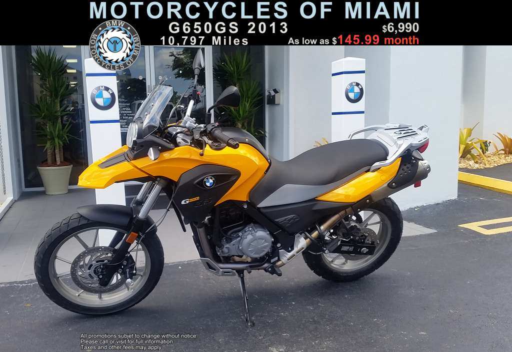 2013 bmw g 650 gs dirt bike motorcycle from miami fl today sale 6 990. Black Bedroom Furniture Sets. Home Design Ideas