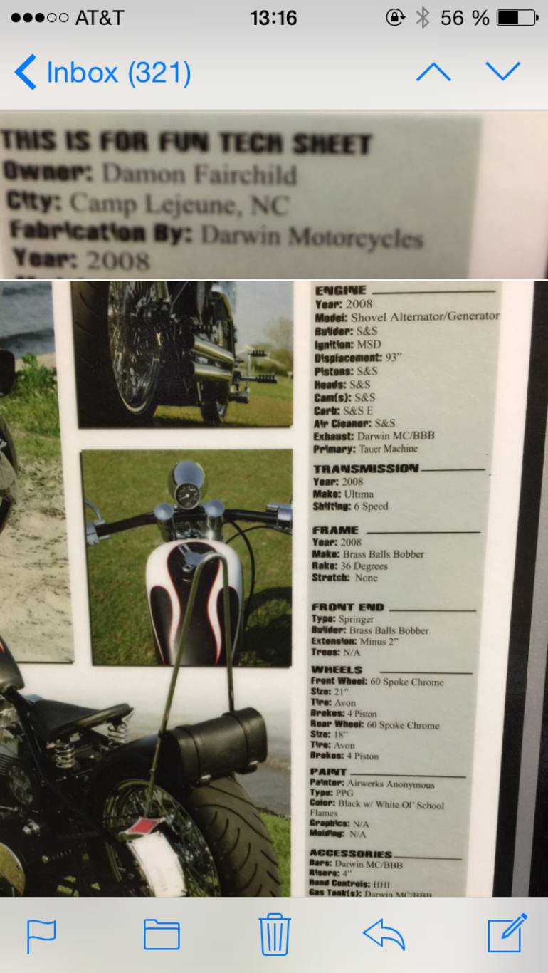 See more photos for this Darwin Cycles Brass Balls Bobber P-38, 2008 motorcycle listing