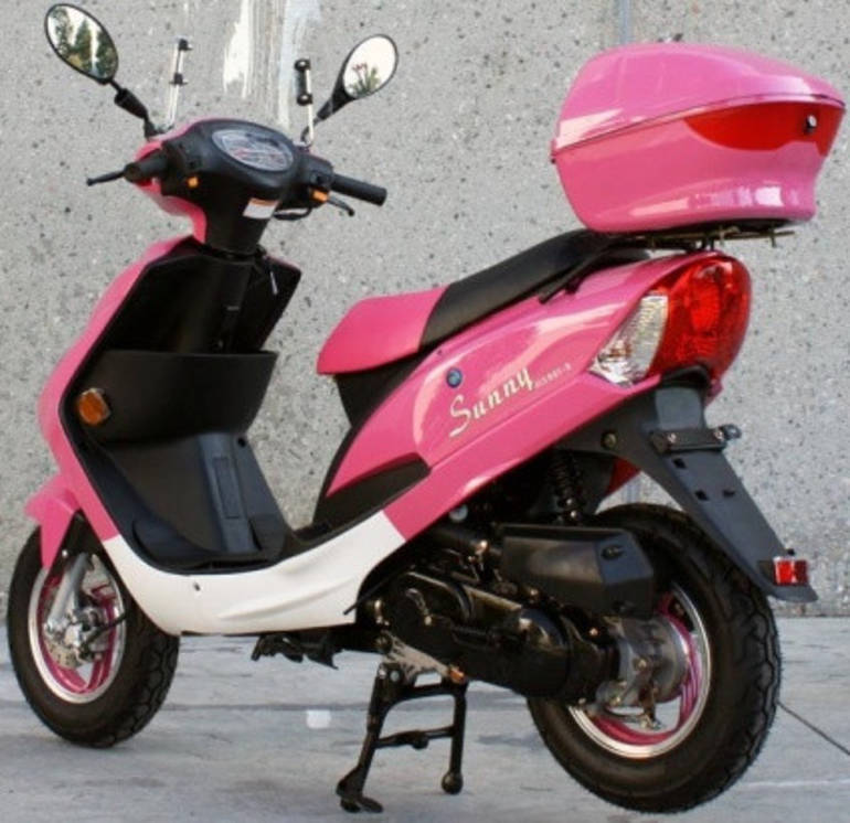 Bmw Of Maui: 2014 Sunny 50cc Pink Panther Maui Moped ON SALE By
