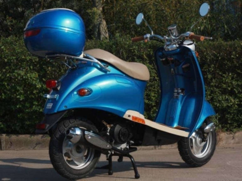 Sunny Euro Style Cc Stroke Gas Scooter Moped On Sale Motorcycles For Sale on Gas Gauge Fuel Tank Capacity
