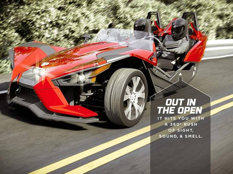 See more photos for this Polaris Slingshot Reverse Trike SL LE, 2016 motorcycle listing