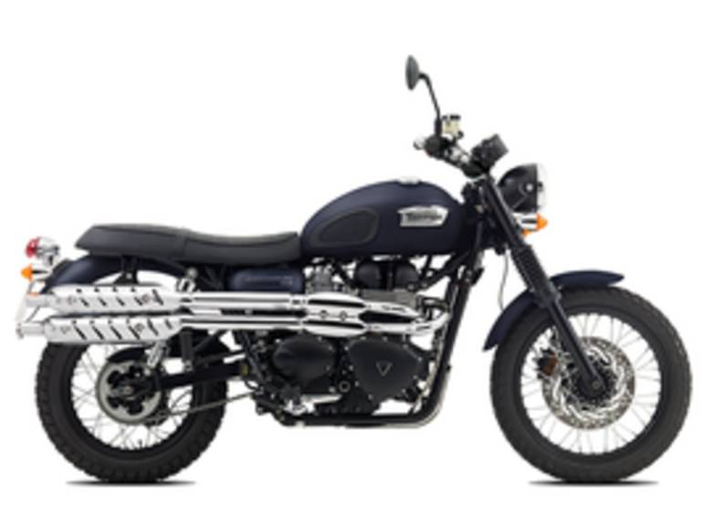 See more photos for this Triumph Scrambler Matte Pacific Blue, 2015 motorcycle listing