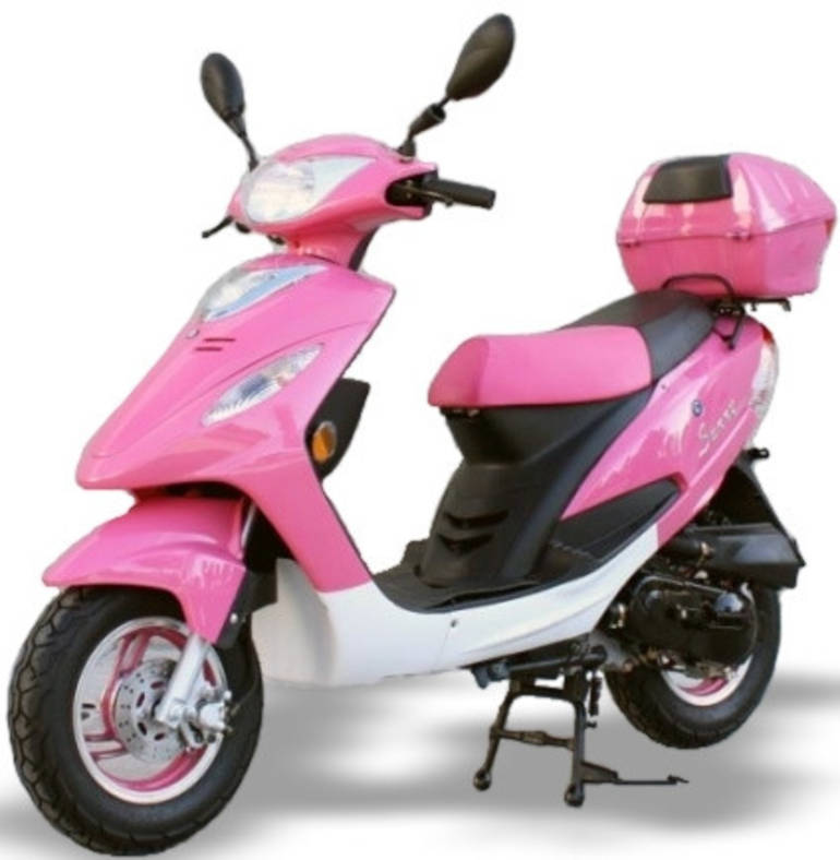 2014 Sunny 50cc Pink Panther Maui Moped ON SALE by SaferWholesale, motorcycle listin