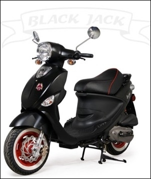 2009 Genuine Scooter Company Black Jack 150, motorcycle listing