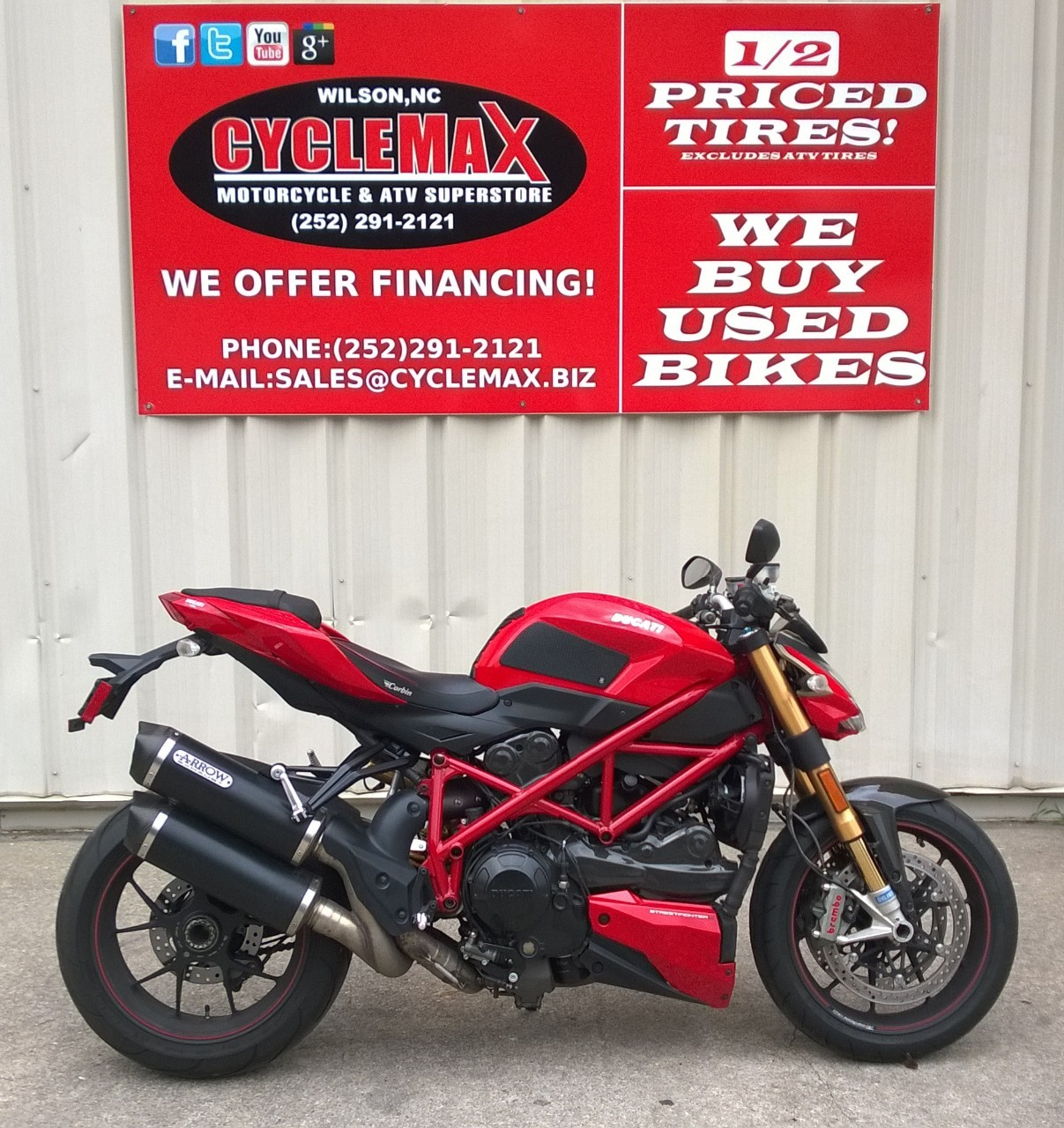 2012 Ducati STREETFIGHTER S, motorcycle listing