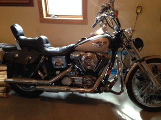 1998 Harley-Davidson Dyna Wide Glide ANNIVERSARY EDITION, motorcycle
