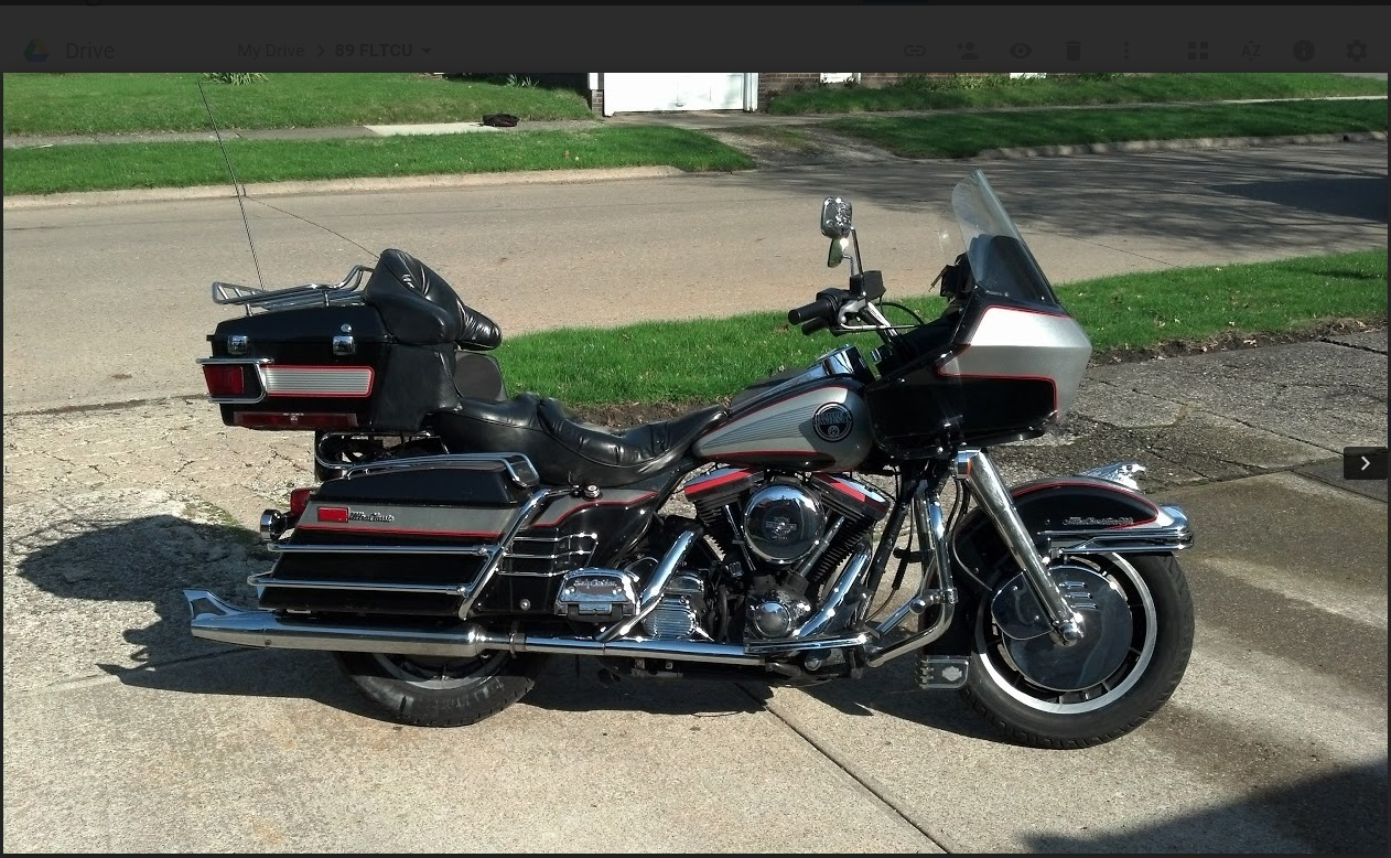 1989 Harley-Davidson Tour Glide , motorcycle listing