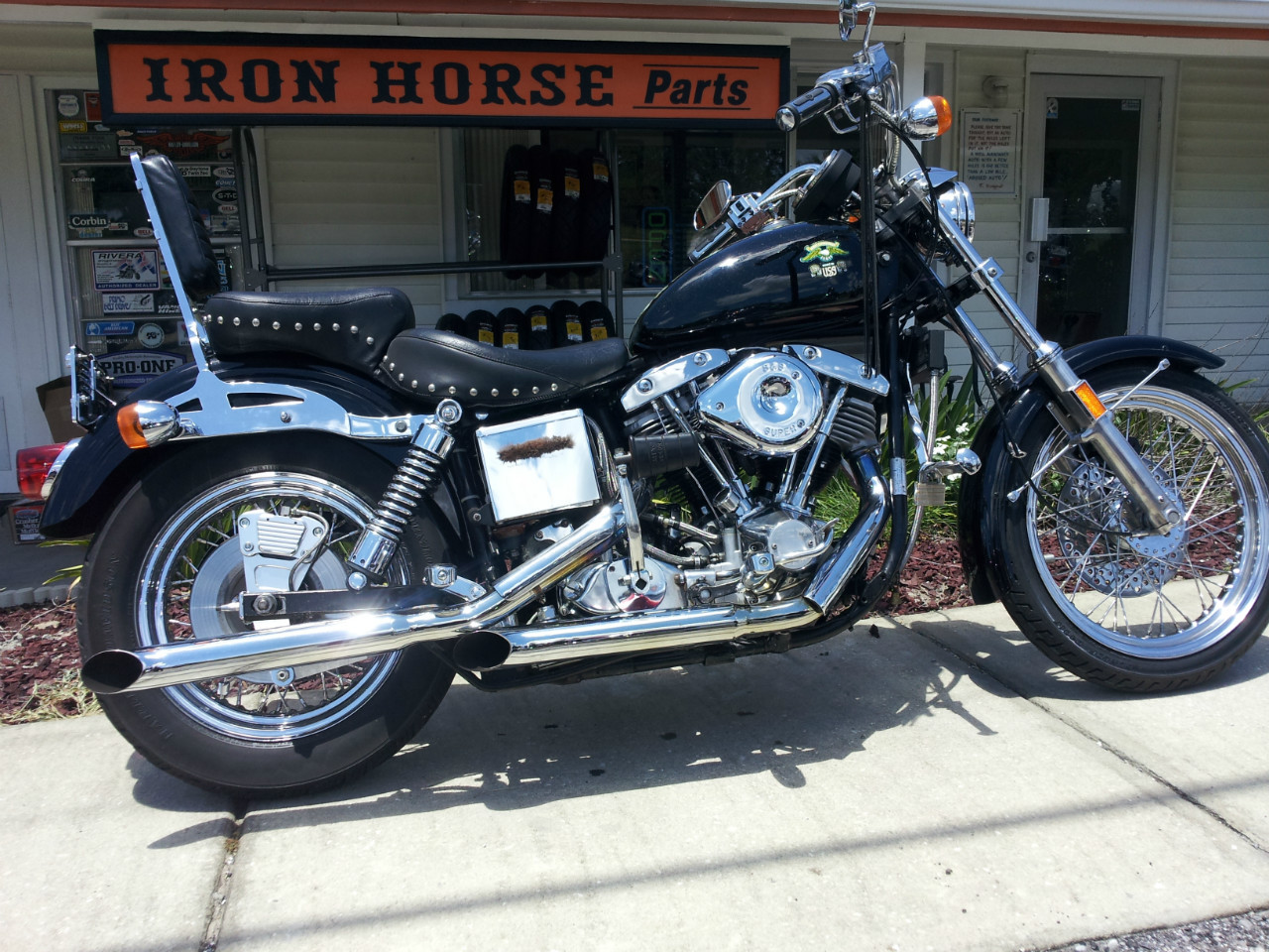1976 Harley-Davidson FXE, motorcycle listing