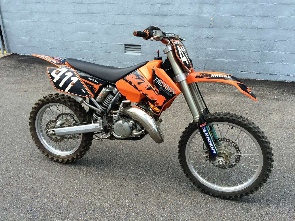 2005 KTM 125 SX, motorcycle listing