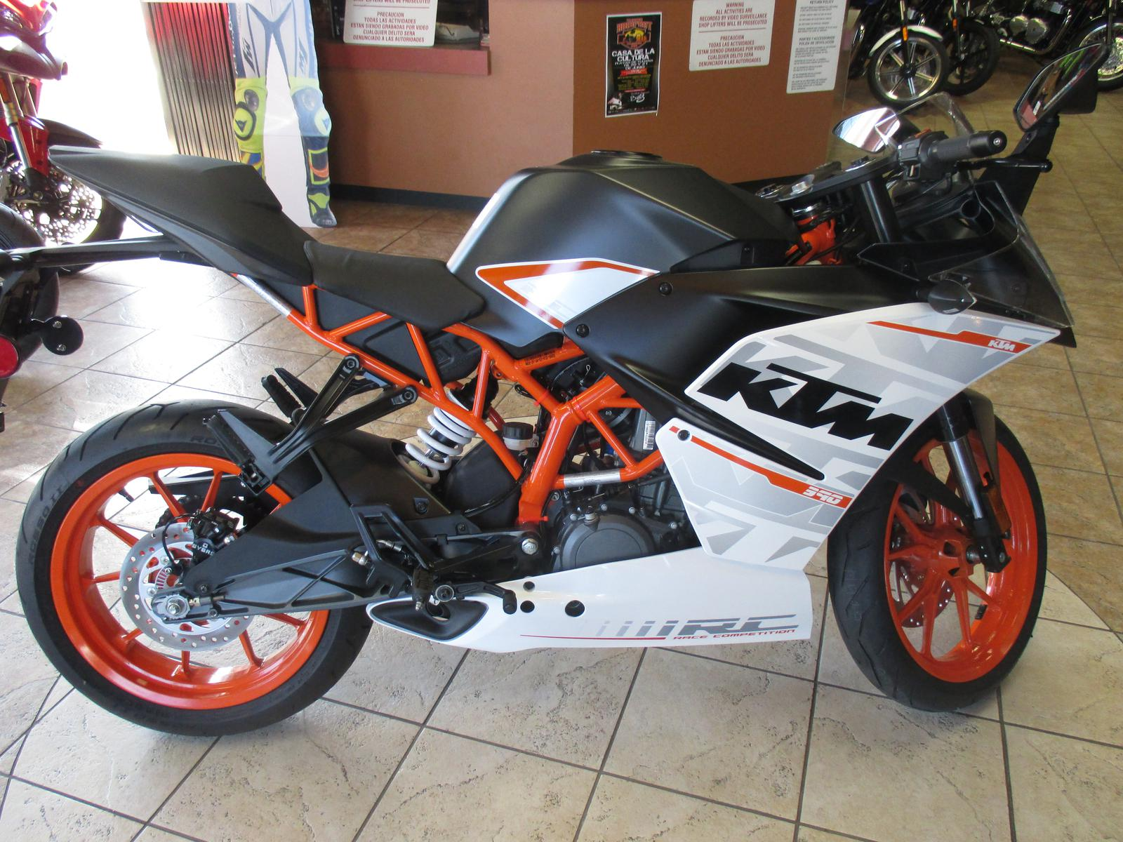 2015 KTM RC390, motorcycle listing