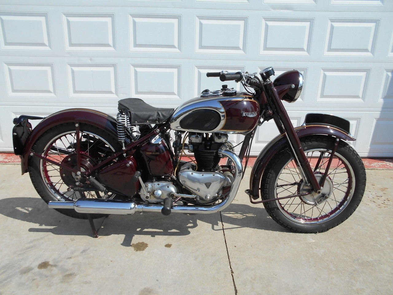 1948 Triumph speed twin, motorcycle listing