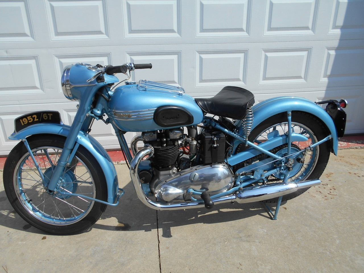 1952 Triumph 6T, motorcycle listing