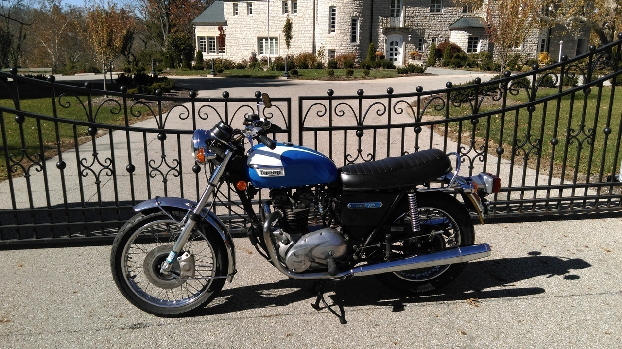 1973 Triumph Tiger , motorcycle listing