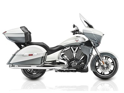 2015 Victory Cross Country Tour Two-Tone White Pearl and Gray, motorcycle listing