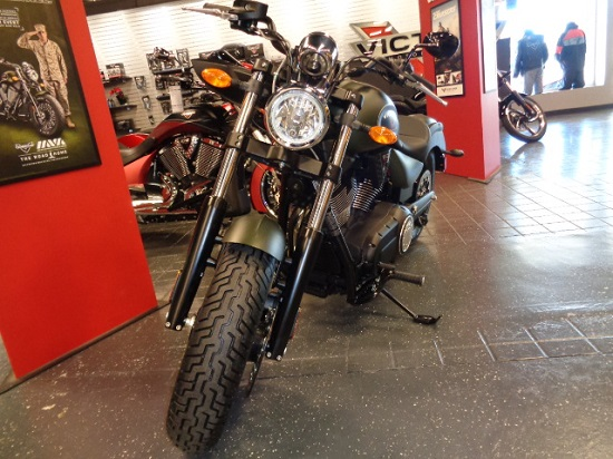 2015 Victory Gunner Suede Green Metallic With Black, motorcycle listing