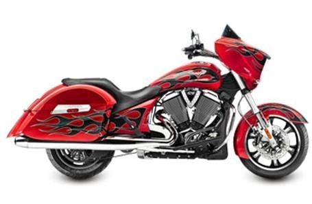 2015 Victory Cross Country - Havasu Red with Flames, motorcycle listing