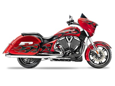 2015 Victory Cross Country Havasu Red with Black Flam, motorcycle listing