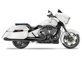 2015 Victory Cross Country Suede White Frost, motorcycle listing