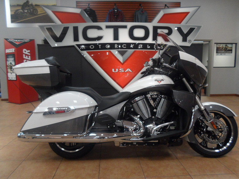 2015 Victory Cross Country Tour Two-Tone White Pearl , motorcycle listing