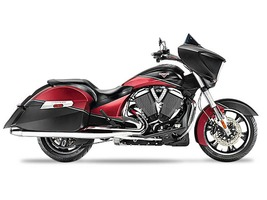 2015 Victory Cross Country Two-Tone Suede Sunset Red , motorcycle listing