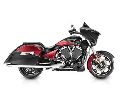 2015 Victory Cross Country Two-Tone Suede Sunset Red over Black, motorcycle listing