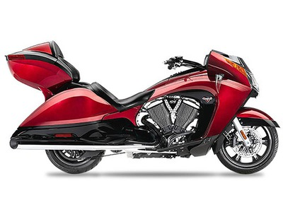 2015 Victory Vision Tour Sunset Red with Black Pinstr, motorcycle listing